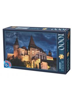 Puzzle 1000 Rumunia, Zamek Corvin nocą