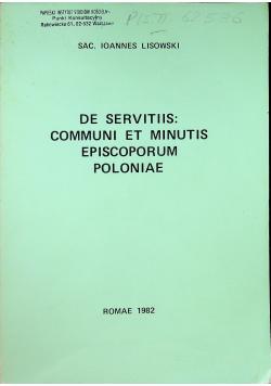 De servitiis communi et minutis episcoporum poloniae
