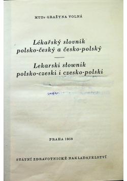 Lekarski słownik polsko czeski i czesko polski