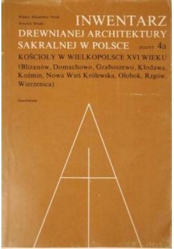 Inwentarz drewnianej architektury sakralnej w Polsce zeszyt 4a