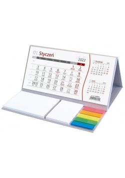 Kalendarz 2022 z notesem podkładka szara