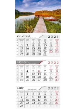 Kalendarz 2022 Trójdzielny Jesienne jezioro CRUX