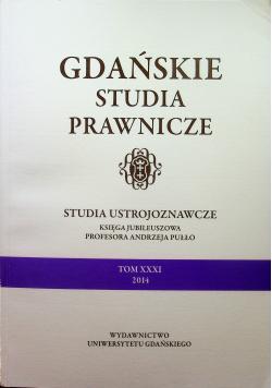 Gdańskie studia prawnicze tom XXXI