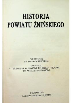 Historja powiatu Żnińskiego 1928r