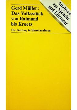 Gerd Muller Das Volksstuck von Raimund bis Kroetz