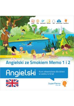 Angielski ze Smokiem Memo Część 1 i Część 2 Kurs słownictwa dla dzieci w wieku 4-6 lat
