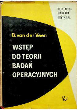 Wstęp do teorii badań operacyjnych