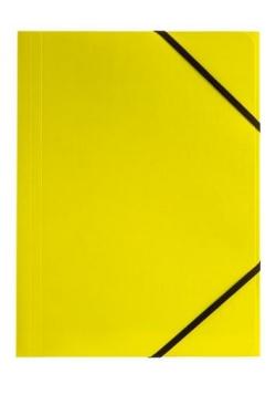 Teczka A4 kart. z gumką nar. limon (6szt) BT600-Y
