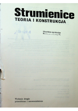 Strumienice Teoria i konstrukcja
