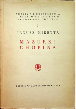 Mazurki Chopina tom 1 1949 r.