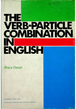 The Verb-particle combination in english