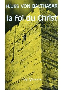La foi du Christ