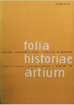 Folia historiae artium Tom XXI