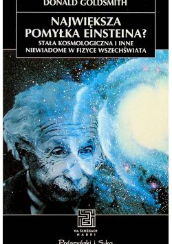 Największa pomyłka Einsteina