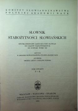 Słownik Starożytności Słowiańskich Tom 4