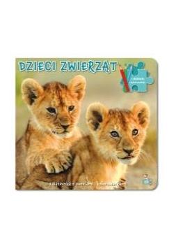 Dzieci zwierząt. Książeczka z puzzlami i kolor.