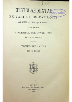 Epistola mixtae 1899r