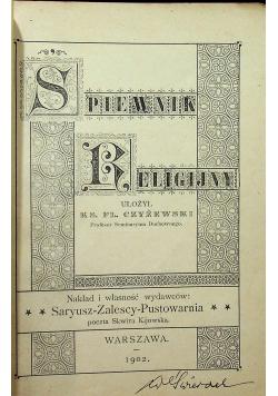 Żołnierski śpiewnik religijny 1902 r