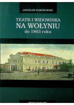 Teatr i widowiska na Wołyniu do 1863 roku