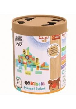 Zabawka drewniana - O!Klocki. Morski świat TREFL