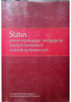 Status Prawno gospodarczy i pedagogiczny szkolnych niemasowych środowisk wychowawczych