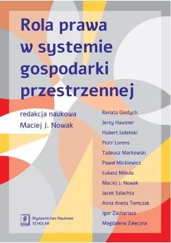 Rola prawa w systemie gospodarki przestrzennej