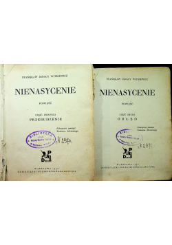Nienasycenie część I i II 1930 r.