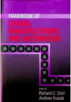 Handbook of design manufacturing and automation