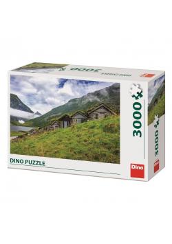 Puzzle 3000 Norwegia, Wioska nad Fiordem