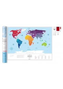 Mapa zdrapka - Travel Map Silver World
