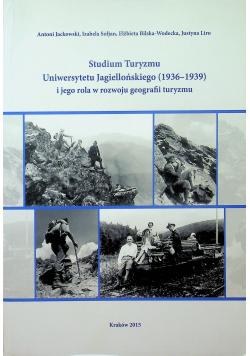 Studium Turyzmu Uniwersytetu Jagiellońskiego ( 1936 1939 )