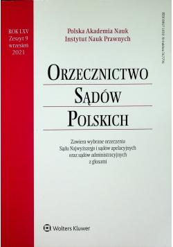 Orzecznictwo Sądów Polskich Rok LXV Zeszyt 9