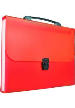 Teczka harmonijkowa z rączką A4 czerwona BT623-C
