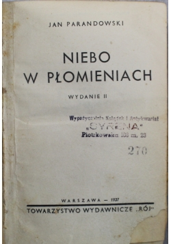 Niebo w płomieniach 1937 r.