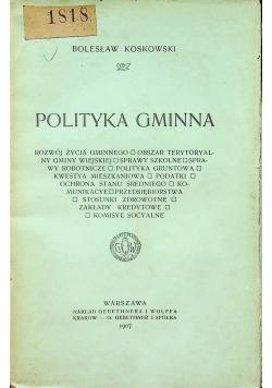 Polityka gminna 1907 r