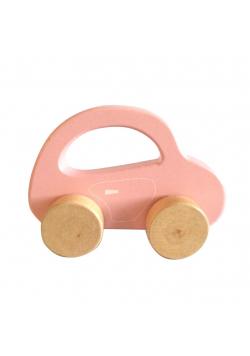 Drewniany Samochodzik dla Najmłodszych Różowy