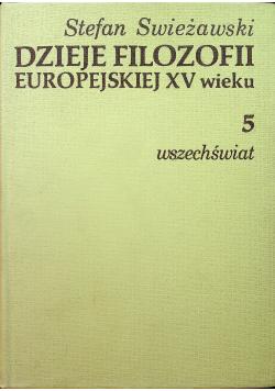 Dzieje filozofii europejskiej XV wieku 5 Wszechświat