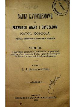 Nauki Katechismowe o Prawdach Wiary i Obyczajów tom III 1886 r