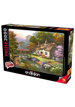 Puzzle 3000 Chata z pięknym ogrodem