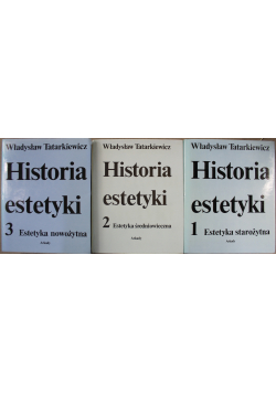 Historia estetyki tom od 1 do 3