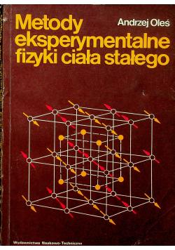 Metody eksperymentalne fizyki ciała stałego