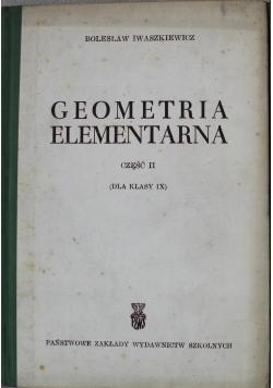 Geometria elementarna Część II