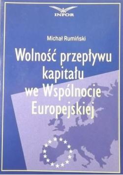 Wolność przepływu kapitału we Wspólnocie Europejskiej