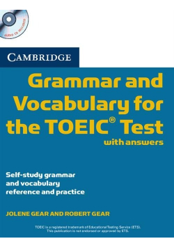 Cambridge Grammar and Vocabulary for the TOEIC with answers