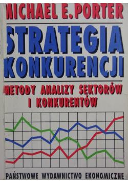 Strategia konkurencji Metody analizy sektorów i konkurentów