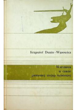 Warszawa w czasie pierwszej wojny światowej