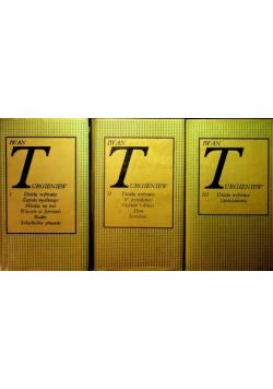 Turgieniew Dzieła wybrane 3 tomy