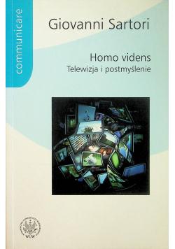 Homo videns Telewizja i postmyślenie