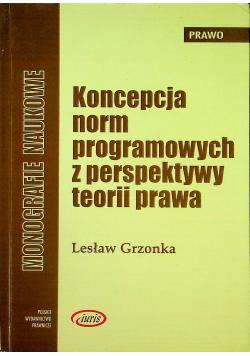 Koncepcja norm programowych z perspektywy teorii prawa + autograf Grzonka