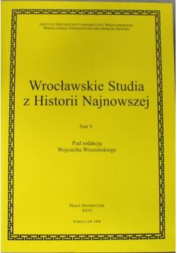 Wrocławskie Studia z Historii Najnowszej tom V